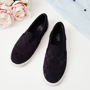 Coach black loafers size 7.5